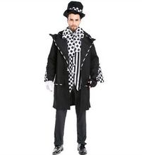 magic costume for men adult magician costume dark magician costume clown costumes halloween cosplay carnival clothing(China)