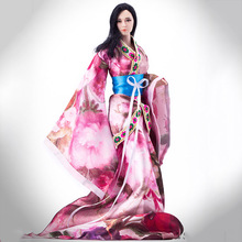 Limited Stock 1/6 Anticent China Clothes Classic Dress Pink/Purple Color for 12 inches Female Action Figures(China)