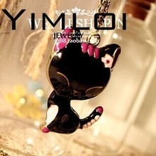 Min.order is $10 Free Shipping&New Fashion Costume Jewelry Cute Cat Drop Necklaces Free Shipping N654 20g