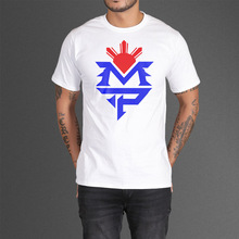 Free Shipping Fashiont shirt Manny Pacquiao MVP Logo T Shirts Cotton Short Sleeve O Neck T-shirts Boxer tee shirts