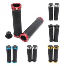 1 Pair MTB Mountain Bike Grips Rubber Lock On Handlebars Lock-on Grips Fixed Gear Fixie Grips End knock off