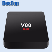 5pcs/lot V88 4K Android 6.0 Smart TV Box Rockchip 3229 1G/8G 4 USB 4K 2K WiFi Full Loaded Quad Core 1.5GHZ Media Player Mini PC(China)