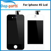 Grade AAA+++ for iphone 4s LCD display Replacement black and white touch Screen Digitizer LCD Assembly Display China Supplier(China)