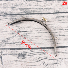 DIY 20cm Antique Brass Metal Purse Frame ring kiss clasp Handle for Bag Craft bag making sew