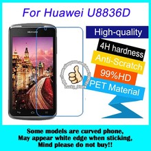 2pcs For Huawei U8836D High Clear Screen Protector, For Huawei U8860 Glossy Screen Protective Film