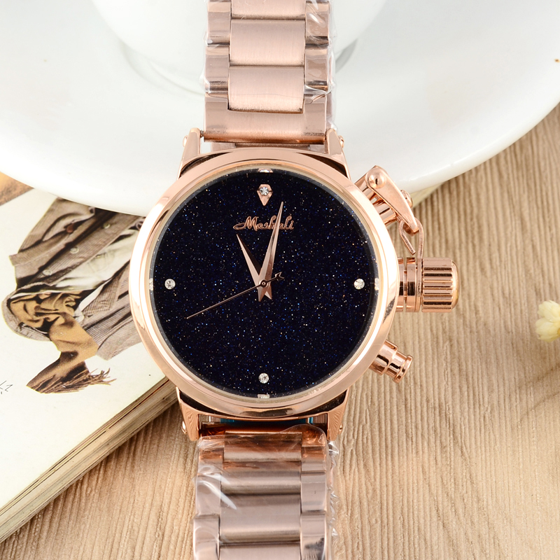 MASHALI Heavy Metals Neutral Watch Women Steel Watches Shining Night Sky Hours Vogue Watches Montre Femme Relojes Relogios W068<br>