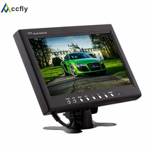Accfly 9 inch Color TFT LCD headrest Car Monitor 12V for DVD VCR support 2 Video Input With Remote control