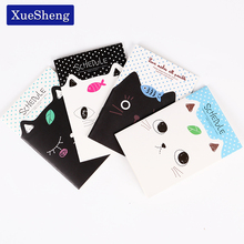 2 PCS Korean Stationery Notebook Office Supplies School Creative Cartoon Cat Style Filofax Notepad Diary Students(China)