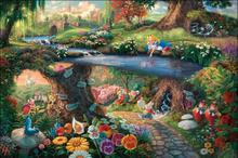 Thomas Kinkade Anime Oil Painting Art Print On Canvas Christmas Home Decoration Wall Art Free Shipping NO framess GZ26(China)