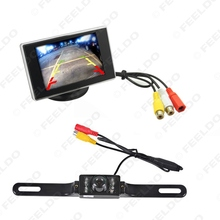 "5Set Digtal 3.5"" TFT LCD Standalone Reverse Monitor + License Plate Night Vision Camera Car Rear View System #FD-3344"