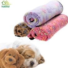 3 Colors Warm Dog Bed Mat Cover Dogs Cats Pet Blanket Fleece Towel Paw Handcrafted Print Dog House Puppy Bed Winter Pet Supplies(China)