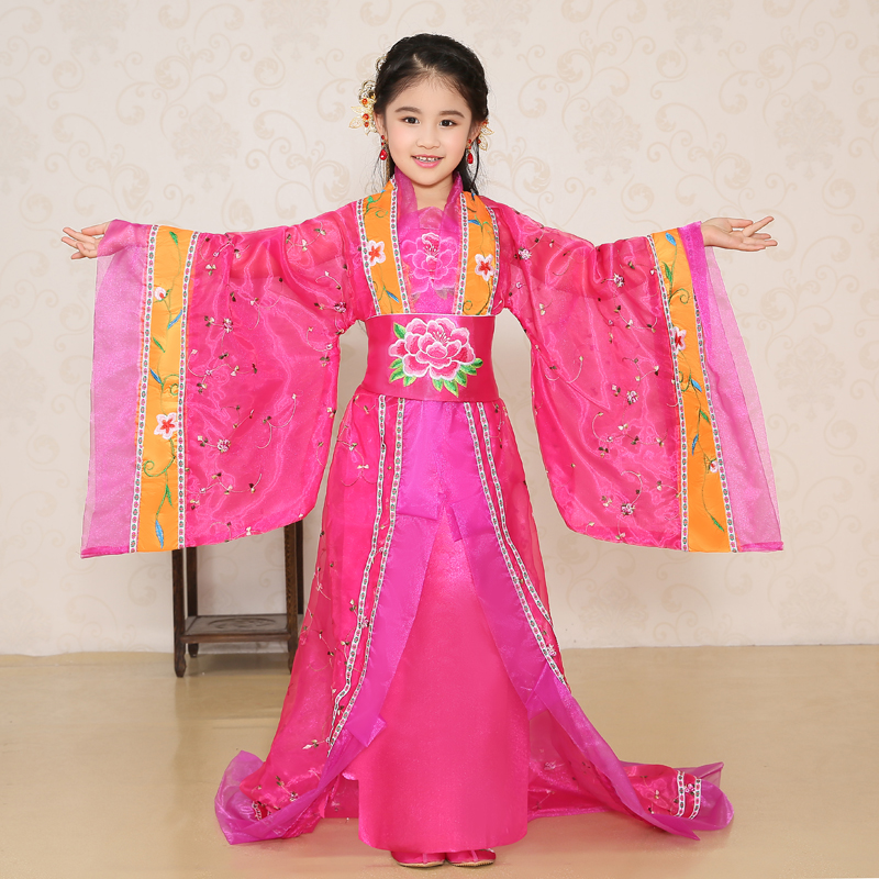 2017 summer christmas dance costumes for kids chinese tang ancient costume traditional classical children kid girls chinese hanf<br>