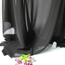 "Black Chiffon Fabric Sheer  Bridal  Wedding  Dress  Lining Fabric Skirt  60"" Wide  5 Yards Per lot  Free Shipping"