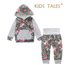 2pcs/set Fashion Flower Newborn Baby Girl Clothes Bodysuit Pants Cardigan Wear Suit Infant Costume Kit Girl Children Clothing