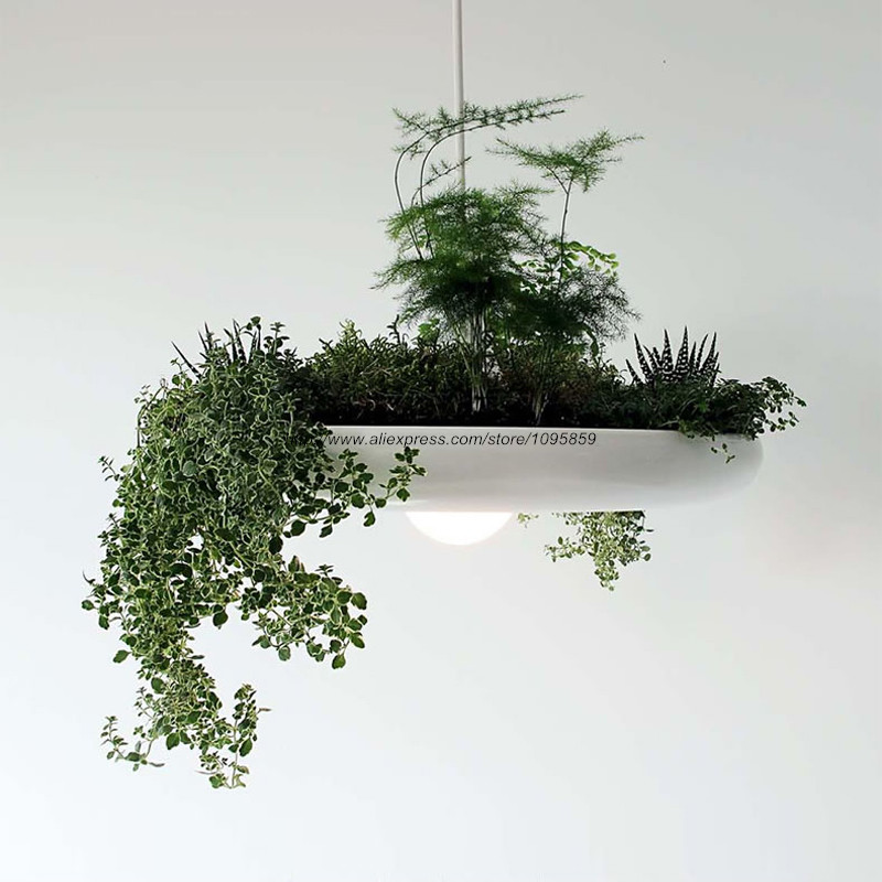 Modern Nordic Hanging Garden Chandelier Light Lamp White/Black/Red Aluminum Ceiling Fixtures Lighting<br>