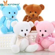 BOOKFONG Lovely Teddy bear plush toys small doll bears for wedding cartoon flower bouquet bear toy Promotion Gifts 15cm(China)