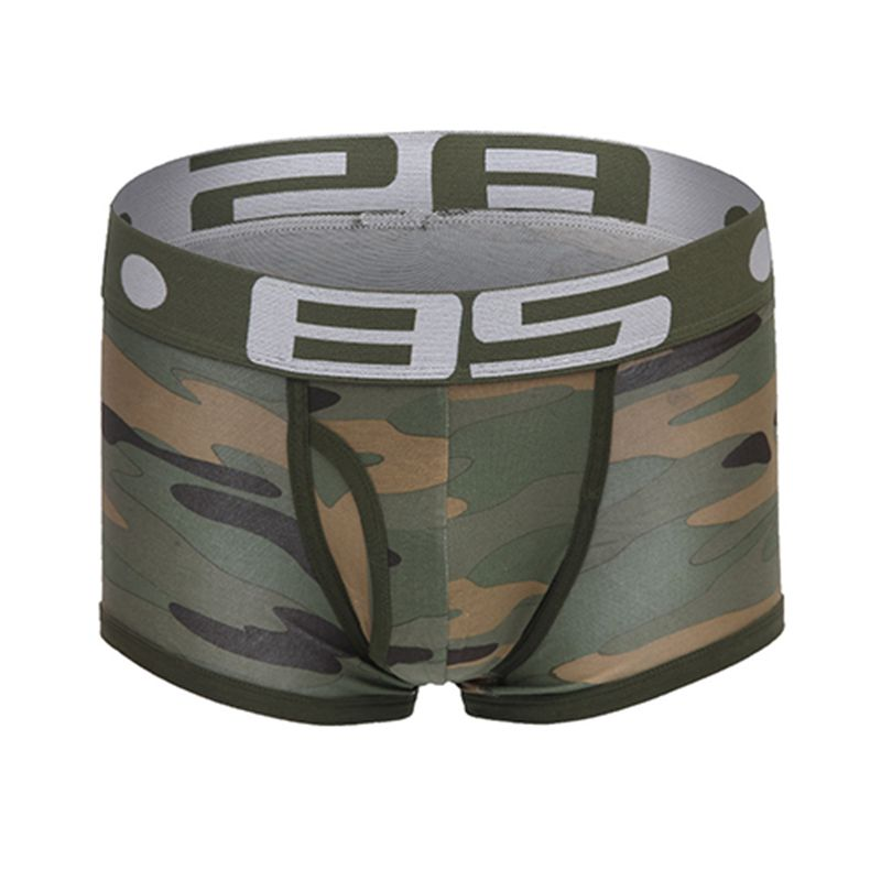 Brand Male Underwear Sexy Men Boxer Shorts Soldier Breathable Cotton U Convex Boxers Homme Tide Camouflage Printed Cueca