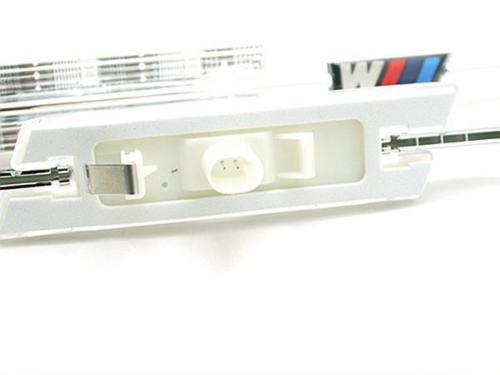 2X-LED-Clear-Side-Marker-Lights-Turn-Signal-For-BMW-E61-E91-E92-E93-E81-3-Series
