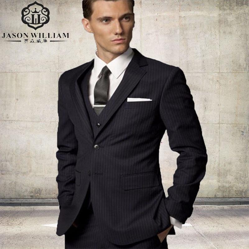 Online Buy Wholesale black stripe suit from China black stripe ...