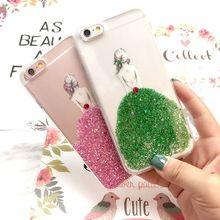 Protector For iphone 6 6s case Bling sequins Glitter meteor Clear Hard Shell Phone Cases organizer  SCCJGL