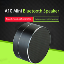 Wireless Bluetooth Speaker Portable A10 Subwoofer Stereo Music Player Support LED Handsfree TF AUX Mini Car Speakers For iphone