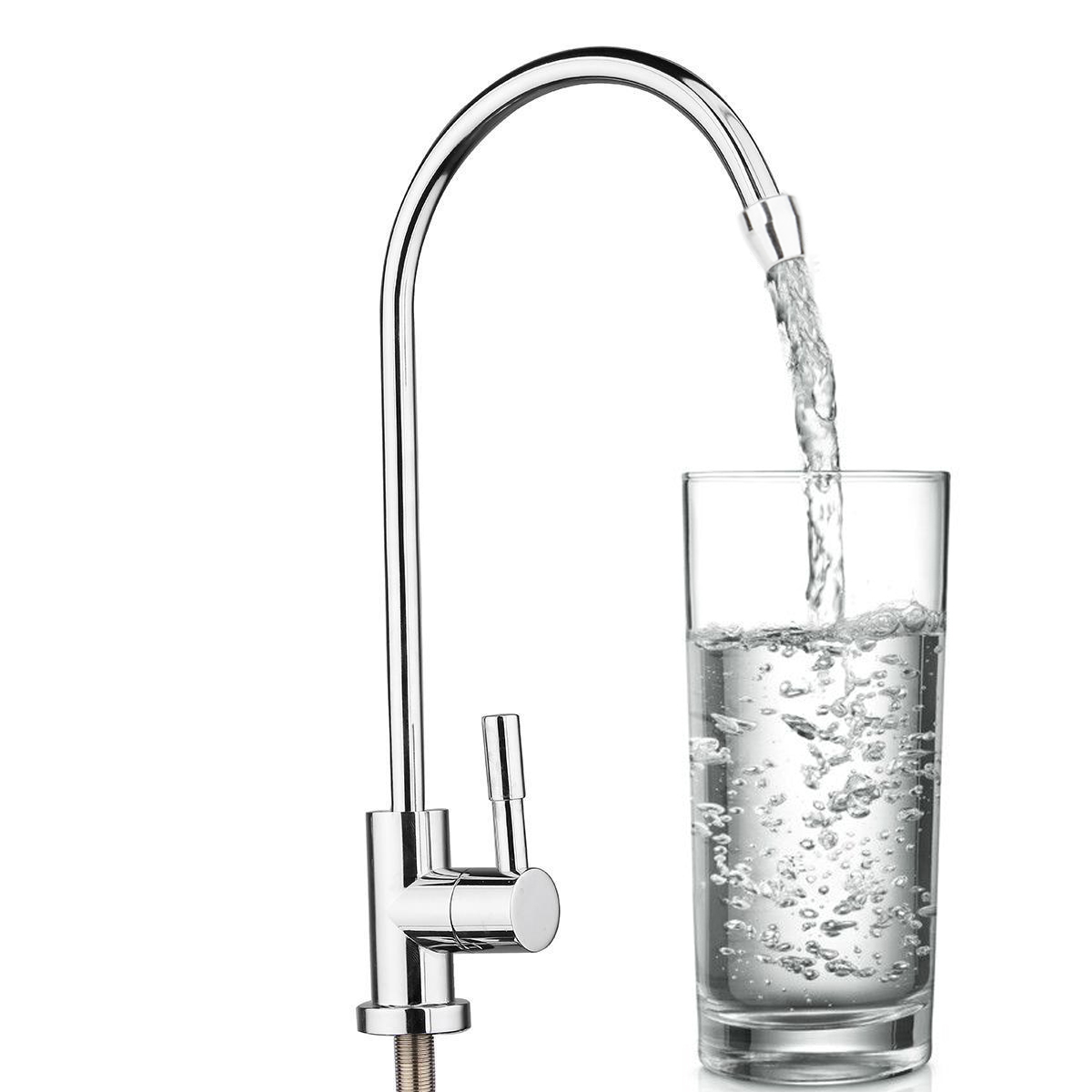 """1pc New Drinking Water Faucet 1/4"""" 360 Degree Chrome Osmosis Drinking RO Water Filter Faucet Finish Reverse Sink"""