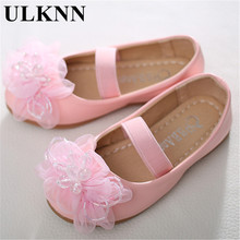 ULKNN Girls princess single shoes little girl spring and autumn children's flowers boat shoes elastic soft bottom shoe wholesale(China)