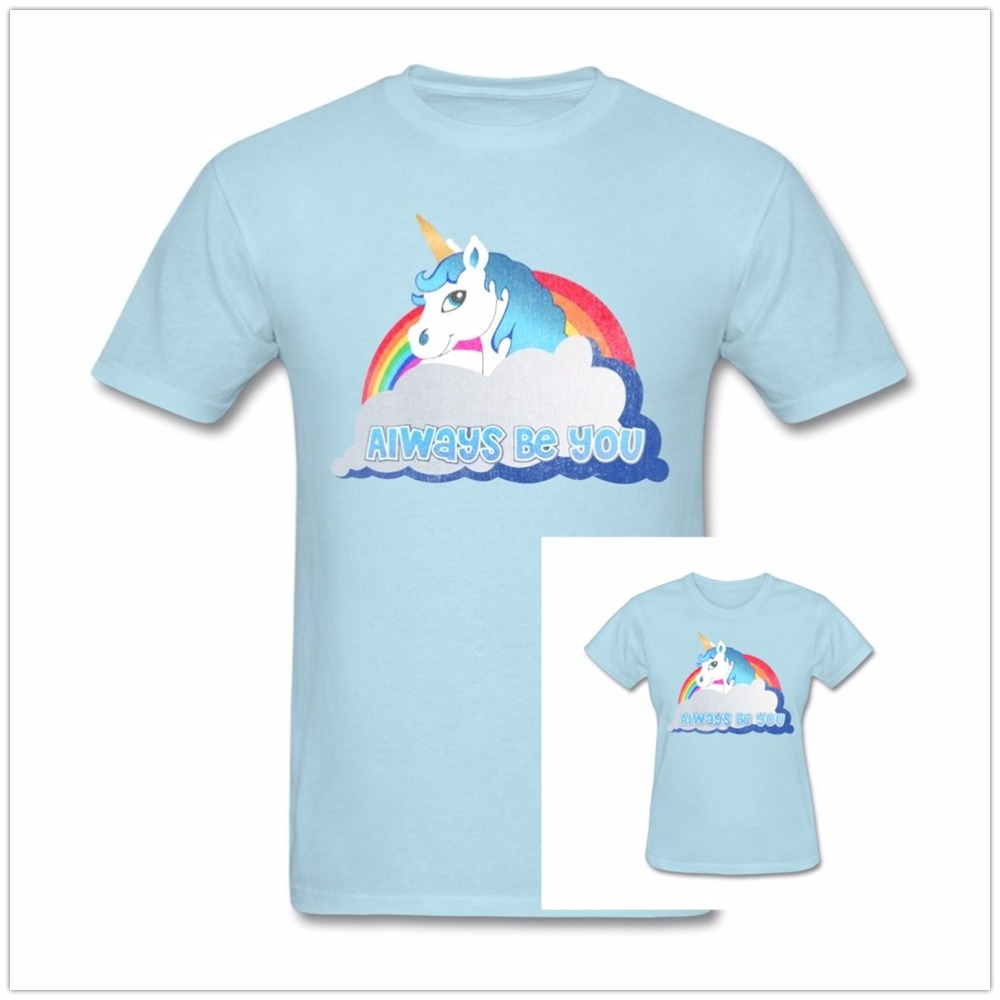 Summer Funny Rainbow Central Intelligence Unicorn T Shirt Men Women Always Dwayne Johnson Cotton O Neck Brand Shirts Tops