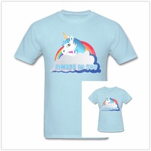 Buy Summer Funny Rainbow Central Intelligence Unicorn T Shirt Men Women Always Dwayne Johnson Cotton O Neck Brand Shirts Tops for $16.79 in AliExpress store
