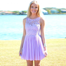 Lavender Chiffon Short Bridesmaid dresses A line Scoop Cheap Beach Bridesmaid dress For Women Wedding Party gowns hu
