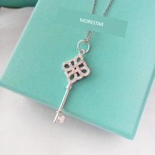 Free shipping 2017 Morestar Fashion 100% S925 Silver key necklace