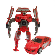 Deformation toys king kong 3 c film version 0.3 flame red sports car robot