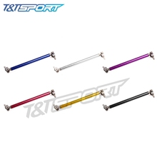 RYANSTAR RACING 2pcs 15cm Universal Adjustable Front Bumper Lip Splitter Rod Strut Tie Bar Support