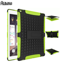 Alabasta Shockproof Heavy Duty Case For iPad 2 3 4 5 6 Protect Skin Rubber Hybrid Cover For iPad Air 1 2 Durable 2 in 1  Case
