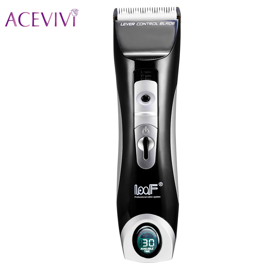 ACEVIVI Professional LCD Digital Electric Hair Trimmer Rechargeable Hair Clipper Shaver Hair Cutting Machine Barber Waterproof<br>