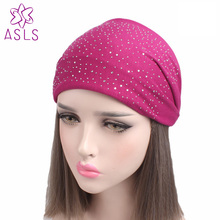 New Fashion Wide Fabric Headband Dance Headband Cotton Stretch Hairband Rhinestone Hair Bands Elastic Hair Band Turban for(China)