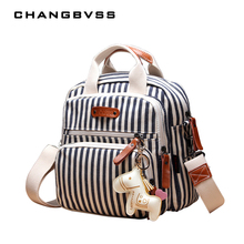 Brand Multifunction Diaper Bag Backpack Mother Care Hobos Bags, Baby Stroller Bags Nappy Bag for Mom with Horse Ornaments(China)