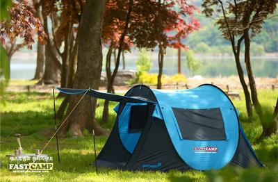 4-5 person automatic large space family comfortable ultralight camping tent beach tent with one pair of curtain poles<br><br>Aliexpress