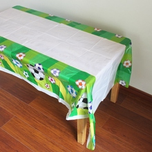Disposable Plastic Table Cloth Football Sport Table Cover Tablecloth Waterproof For Kids Birthday Party Decoration 180*108cm(China)
