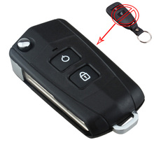 2 Buttons Flip Key Shell Blank Refit for HYUNDAI SANTA FE Remote SV With Battery Holder with Sticker