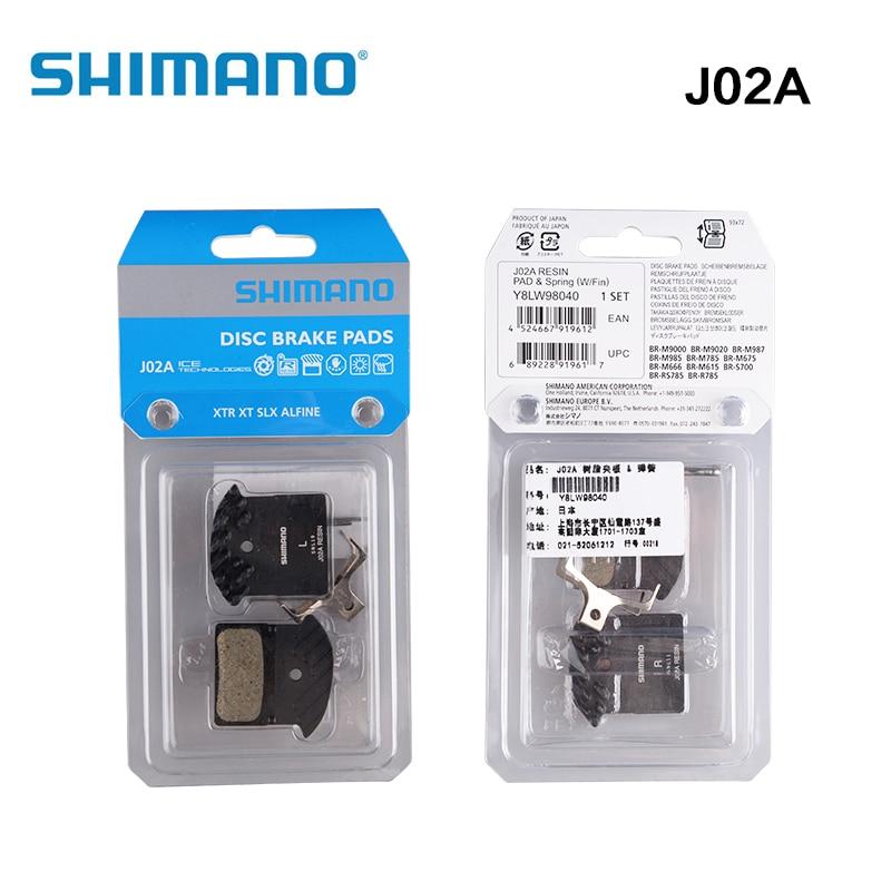 Shimano Resin Disc Brake Pads J02A for XTR BR-M985 SLX BR-M675 B01S//G01S Pad