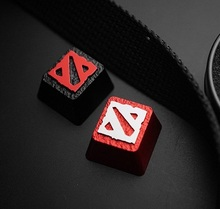 Holyoops dota2 mx shaft mechanical keyboard full metal keyboarded red in black