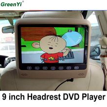 9 Inch Car Headrest Monitor With 800*480 Screen Built-in Speaker Support USB SD DVD Player Games Remote Control For Ford KIA BMW(China)