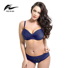 YOUDIAN Push Up Bikinis Women Summer Bathing Suit Push Up Biquini Plus Size Super Large Cup Women Swimwear Female Beach Suit