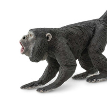 Original genuine wild Animal rare monkey black howler Model Collectible figurine kids educational Figure toy gift