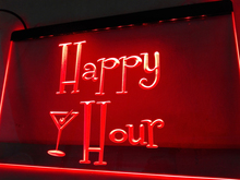 LB558-r Happy Hours Bar Pub OPEN Beer LED Neon Light Sign