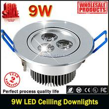 10pcs Free shipping 9W Ceiling downlight Epistar LED ceiling lamp Recessed Spot light 85V-245V for home illumination