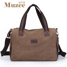 2017 New Muzee Brand Vintage large capacity men canvas travel bags Top quality travel duffle luggage bag ,Free shipping