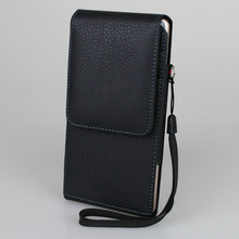 Vertical Belt Clip Holster PU Leather Pouch Case Magnetic Snap with Card slot Wrist Rope for Xiaomi mi max 6.44 inch