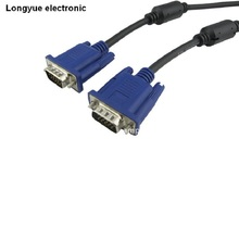 1.5m 5ft 2m 6ft 3m 10ft 5M 16.5Ft SVGA VGA Monitor M/M Male To Male Extension Cable free Ship